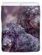 Two Poodles Duvet Cover