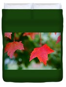 Two Red Maple Leaves Duvet Cover