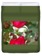 Two Rose Buds Duvet Cover