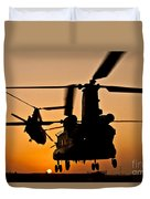Two Royal Air Force Ch-47 Chinooks Take Duvet Cover