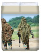 Two Snipers Of The Belgian Army Dressed Duvet Cover