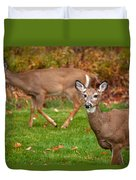 Two Visitors Duvet Cover