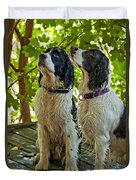 Two Wet Puppies Duvet Cover