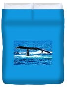 Two Whale Tails Duvet Cover