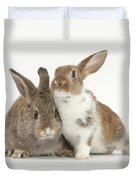 Two Young Rabbits Duvet Cover
