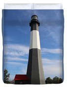 Tybee Island Lighthouse On Beautiful Day Duvet Cover