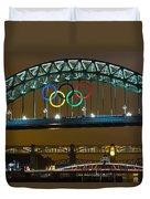 Tyne Bridge At Night II Duvet Cover