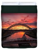 Tyne Bridges At Sunrise IIi Duvet Cover