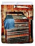 Type Case With Denim Apron Duvet Cover