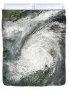 Typhoon Haikui Makes Landfall Duvet Cover
