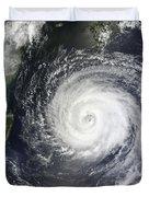 Typhoon Muifa East Of Taiwan Duvet Cover