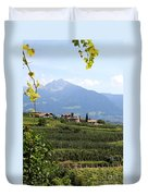 Tyrolean Alps And Vineyard Duvet Cover