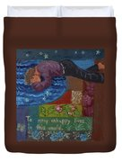 U Is For The Unfortunate Detail From Childhood Quilt Painting Duvet Cover