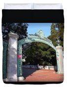 Uc Berkeley . Sproul Plaza . Sather Gate . 7d10039 Duvet Cover