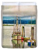 Ucluelet Harbour Hdr Duvet Cover