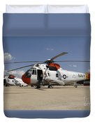 Uh-3h Sea King Helicopters Based Duvet Cover