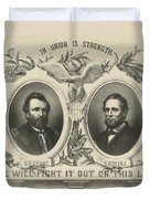 Ulyssess S Grant And Schuyler Colfax Republican Campaign Poster Duvet Cover