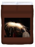 Umbrella Of Sparks Duvet Cover