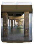Under Dania Beach Pier Duvet Cover