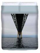 Under The Mackinac Bridge Duvet Cover
