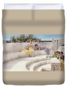 Under The Roof Of Blue Ionian Weather Duvet Cover