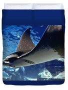 Underwater Flight Duvet Cover by DigiArt Diaries by Vicky B Fuller