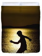 Unicycling Silhouette Duvet Cover