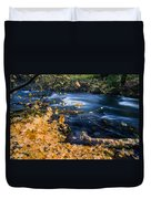 Union Creek In Autumn Duvet Cover
