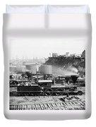 Union Locomotive, C1864 Duvet Cover