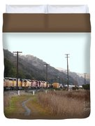 Union Pacific Locomotive Trains . 7d10558 Duvet Cover