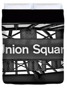 Union Square  Duvet Cover by Susan Candelario