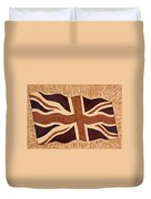 United Kingdom Flag Coffee Painting Duvet Cover