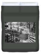 Unmanned Railway Crossing At Hope Duvet Cover