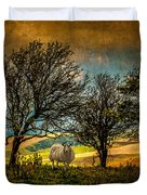 Up On The Sussex Downs In Autumn Duvet Cover