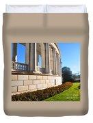 Upclose Of Arlington Memorial Amphitheater Duvet Cover