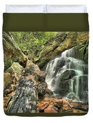 Upper Cascade Hidden Falls Duvet Cover