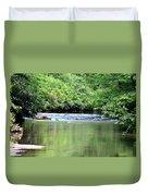 Upper Creek Reflections Duvet Cover