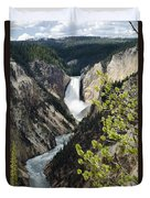 Upper Falls Of The Yellowstone River Duvet Cover