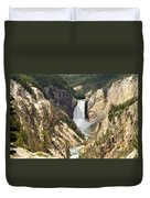 Upper Falls Yellowstone Duvet Cover