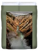 Upper Yellowstone Falls Duvet Cover