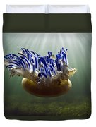 Upside-down Jellyfish Cassiopea Sp Duvet Cover