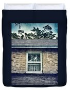 Upstairs Window In Stone House Duvet Cover