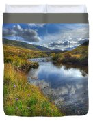 Upstream To The Bridge Duvet Cover by John Kelly