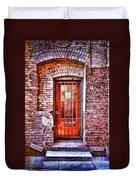 Urban Door In Old Brick Building Duvet Cover
