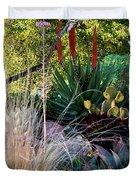Urban Garden With Cactus Duvet Cover