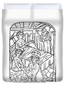 Urine Analysis, Patients With Syphilis Duvet Cover