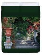Urn And Steps At A Villa On Lake Como Duvet Cover