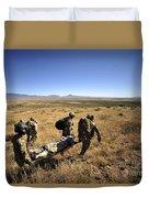 U.s. Air Force Pararescuemen Carry Duvet Cover