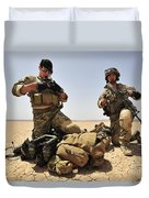 U.s. Air Force Soldiers Gather Duvet Cover