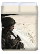 U.s. Army Captain Looks Out The Door Duvet Cover